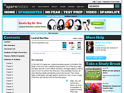 sparknotes com sparknotes a tale of two cities screenshot of sparknotes com lit flies summary html
