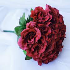 balsacircle 4 velvet roses bouquets bridal flowers diy home wedding party artificial bouquets arrangements centerpieces com