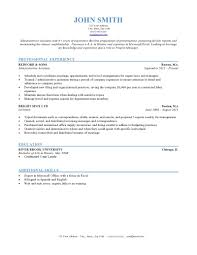 Format Of A Resume Sufficient Chronological Sample Example