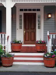 front door design35 Front Door Flower Pots For A Good First Impression