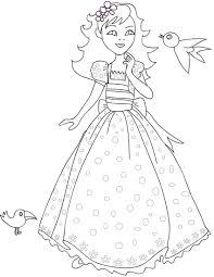 Disegni Di Principesse Da Stampare Gratis E Da Colorare Per Bambine