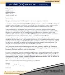Sample Manager Cover Letter Construction Project Manager Cover Letter Sharon Graham