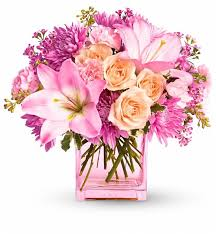 pink charm bouquet flower bouquets and enchant with this perfectly pink pretty arrangement of fresh cut blossoms flower bouquet e19