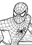 Распечатать бесплатно раскраску человека паука