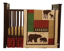 trend lab kids toddler infant child newborn northwoods 3 piece crib bedding set