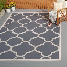 safavieh courtyard quatrefoil grey beige indoor outdoor rug safavieh outdoor rugs
