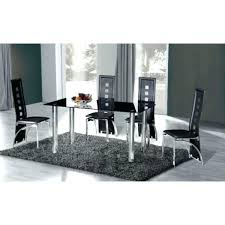 large glass dining table glass dining table and chairs crystal large black glass dining