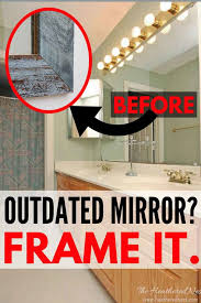 how to make a diy mirror frame the