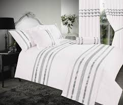 white silver colour stylish sequin duvet cover luxury beautiful glamour sparkle egyptian cotton bedding