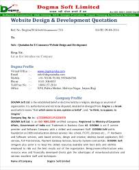 Web Development Quotes New 48 Website Quotation Templates PDF Free Premium Templates