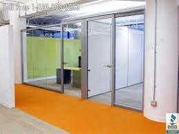 interior solid wood door with glass insert office wall system walls sustainable full height swing doors