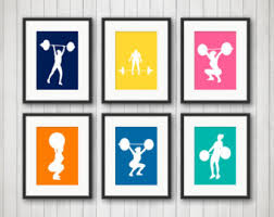 Weightlifting Art Prints - Workout Wall Art - Weightlifting Fitness Art -  Exercise Gym Decor -