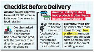Amazon India Amazon Told To Keep Food Items Separate From