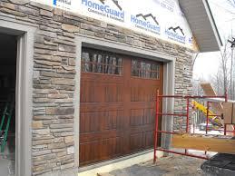 metal garage doorsStone Veneer Installation Over an Existing Metal Garage Door