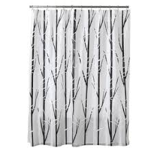 cream and black shower curtain. style selections eva/peva black/white patterned shower curtain cream and black
