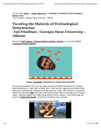 Technological Determinism Pdf Tweeting The Dialectic Of Technological Determinism