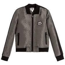 LAGERFELD Kids - Girls Khaki Quilted Jacket | Childrensalon & KARL LAGERFELD Kids - Girls Khaki Quilted Jacket | Childrensalon Adamdwight.com