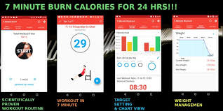 keep fit 7 minute workout poster