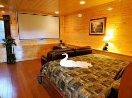 ... Image Of Indoor Swimming Pool Cabin With Bedroom Home Theater Xbox Ps3  Wii Bedroom Home Theater ...