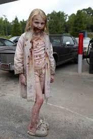 tutorial 2016 zombie scary kids costume little walking dead little makeup