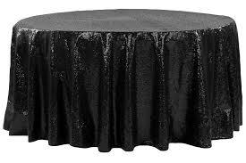 glitz sequins 108 round tablecloth black