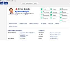 employee contact info employee database management open hrms