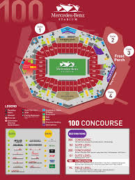 Atlanta United Seating Chart Mercedes Benz Stadium Maps Mercedes Benz Stadium