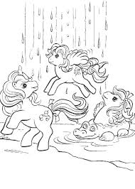 Little Pony Coloring Pages My Little Pony In A Magic World Ponies