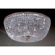 classic lighting crystal baskets millenium silver twelve light flush mount