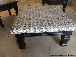 quick and easy diy coffee table to ottoman project