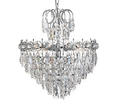 searchlight catherine 5 light tiered semi flush ceiling light chrome finish with crystal decoration 2595 5cc