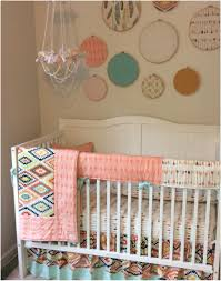 crib sets archaicawful aztec perless baby girl crib bedding set peach gold and mint 1182 pixels