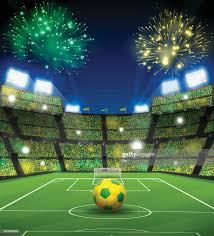 Stadio Di Calcio Del Brasile Illustrazione stock - Getty Images