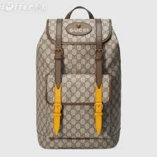 473869 men canvas leather buckles supreme backpack bags