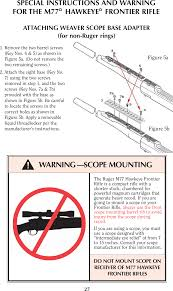 Ruger M77 Scope Ring Chart Ruger M77 Instruction Manual Manualslib Makes It Easy To