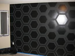 geometric triangle wall paint design idea with tape diy for life Painting  Walls With Tape Designs