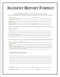 Free Employee Incident Report Template - Ecza.solinf.co