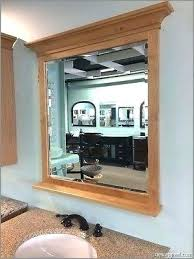 wooden frame bathroom mirror add frame to bathroom mirror bathroom mirrors wood frame large framed and