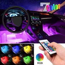 Amazon Car Lights Car Led Strip Light Ejs Super Car 4pcs 36 Led Multi Color Car Interior Lights Under Dash Lighting Waterproof Kit With Multi Mode Change And Wireless