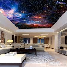 Wall Mural For Living Room Custom 3d Photo Wall Murals Star Space For Living Room Hotel Lobby