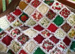 Posh Poinsettia and Holly Christmas Rag Quilt by SunflowerRagWorks ... & Posh Poinsettia and Holly Christmas Rag Quilt by SunflowerRagWorks, $150.00 Adamdwight.com