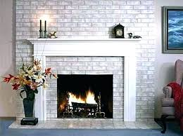 painted fireplace ideas brick back to simple way painting stone images bric