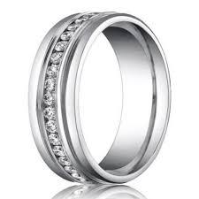 6mm Benchmark Palladium Men S Diamond Eternity Wedding Ring