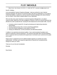 customer experience manager cover letter sample perfect cover letter examples