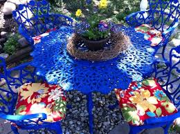 painting wrought iron furniture. Reader Re-Do: A Colorful Patio Furniture Makeover | Summer, Patios And Wrought Iron Painting H