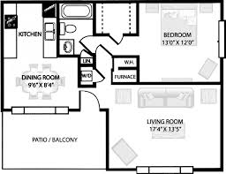 One bedroom apartment floor plans design inspiration