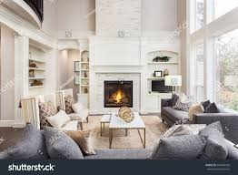 beautiful living room interior hardwood floors stock photo royalty with home living room fireplace