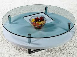 Image Of: Glass Top Small Round Coffee Table