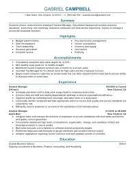 Management Resume Summary Job Resume General Manager Resume Sample