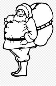 Santas Bag Of Toys Coloring Page Printable Christmas Santa With